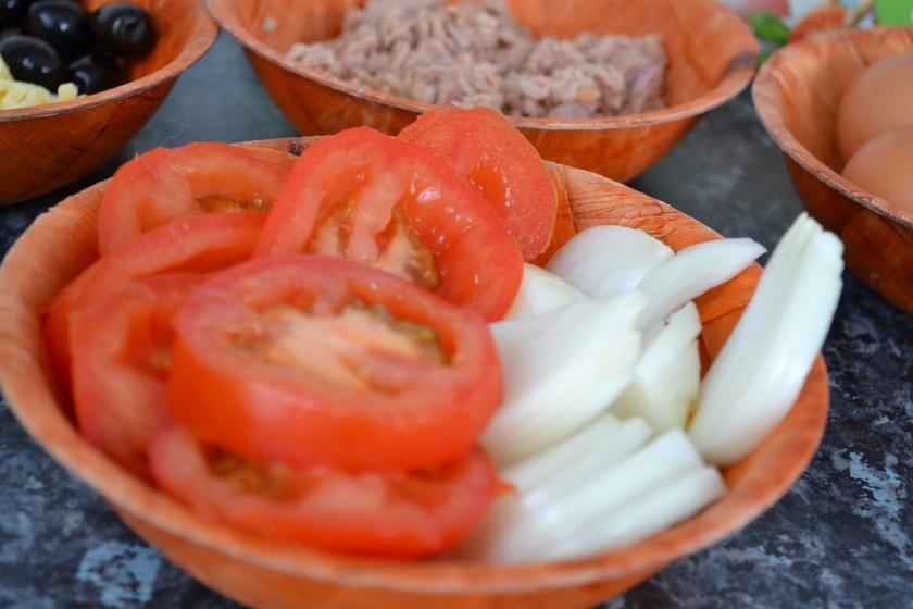Tomates et Oignon émincés