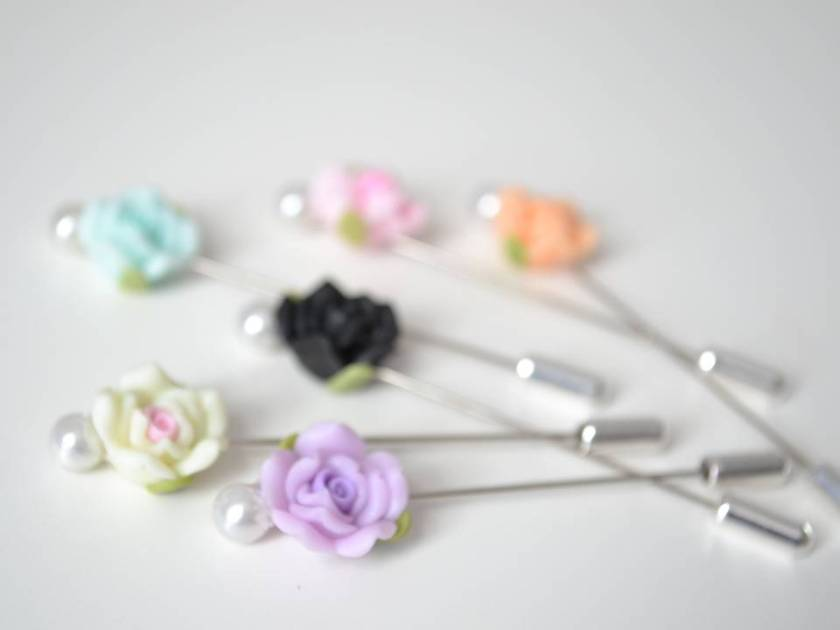 Vintage Rose Hijab Pins Collection by OummAnna