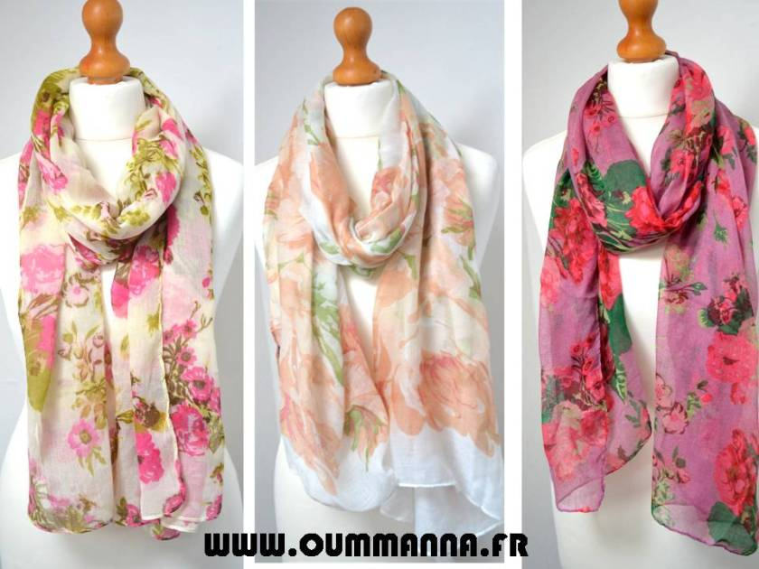 Maxi Hijab Vintage Cottage Chic by OummAnna.fr