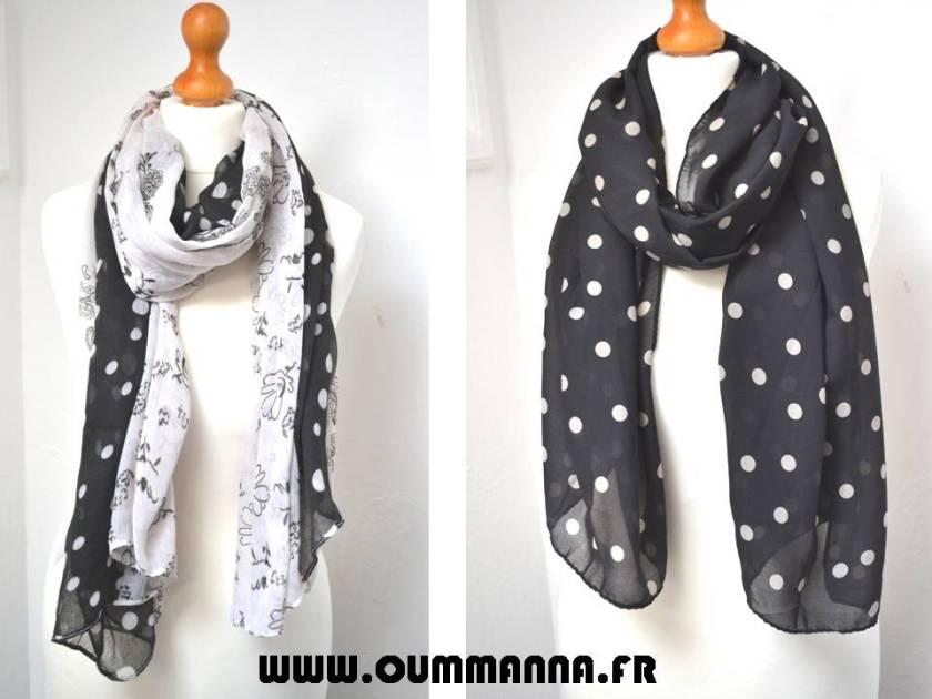 Collection de Foulards Petits pois par OummAnna.fr