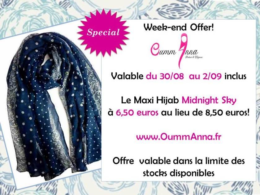 OummAnna Maxi Hijab Midnight Sky