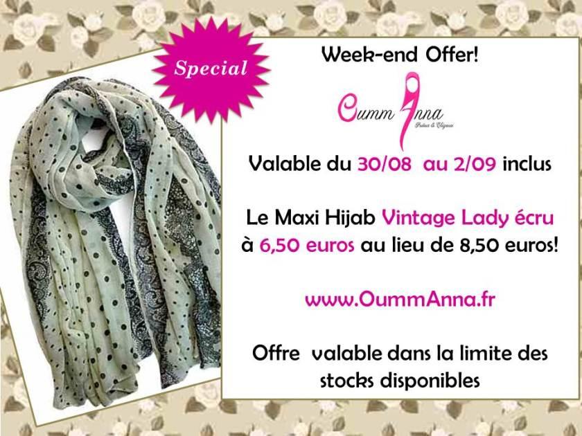 OummAnna Maxi Hijab Vintage Lady