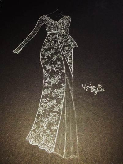 Croquis dessiné par Myriam B.
