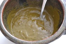Préparation finale: Melange de hénné, eau et huile d'olive