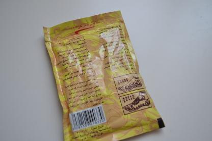 Sachet de Henna -Verso