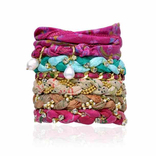 Green Sewn Bracelets {Mon Favori}