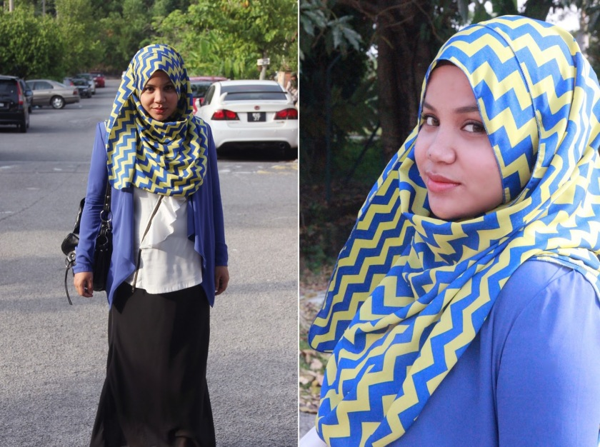 Aishah Amin with Chevron Headscarf