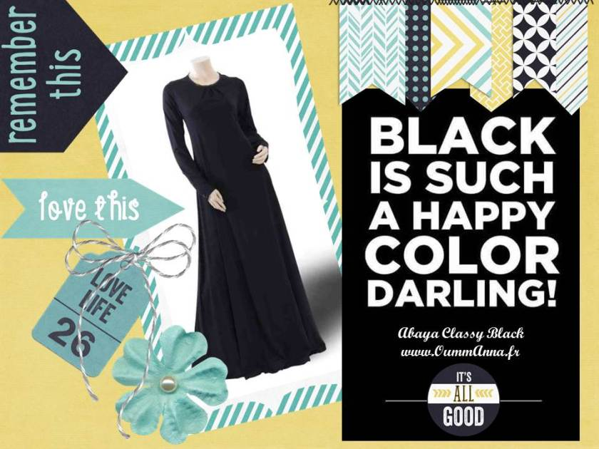 abaya classy black