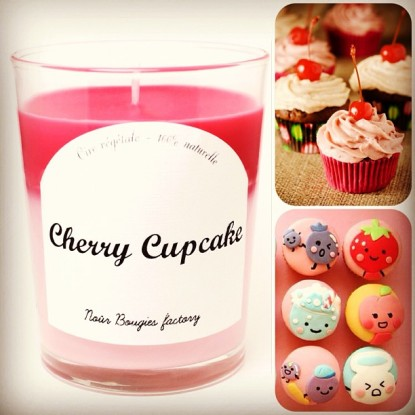 bougie cherry cupcake
