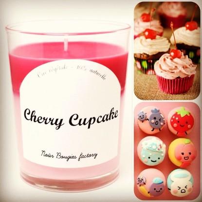 bougie cherry cupcake