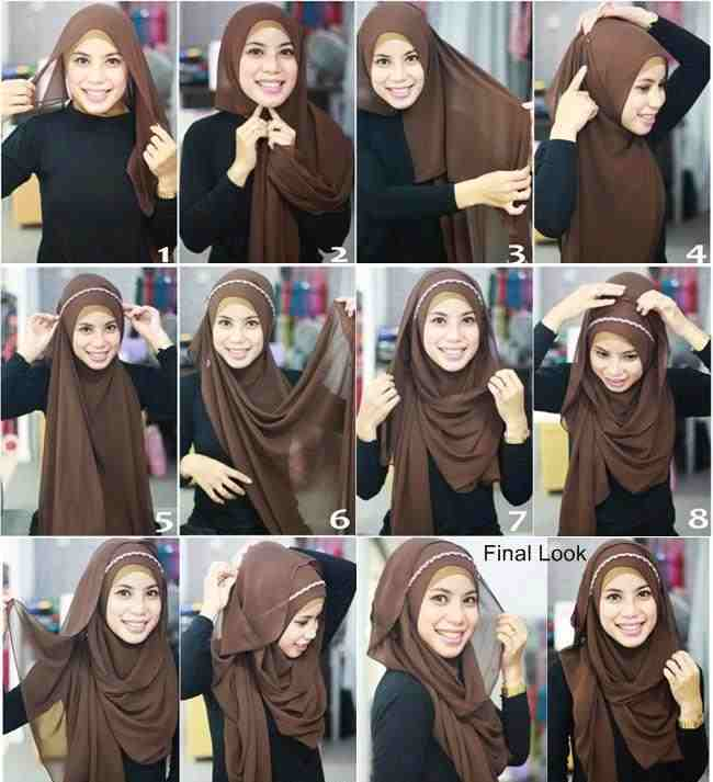 Hijab with Headband Tutorial