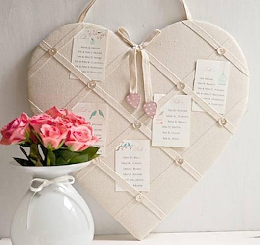 Heart Memo Board et un Joli vase
