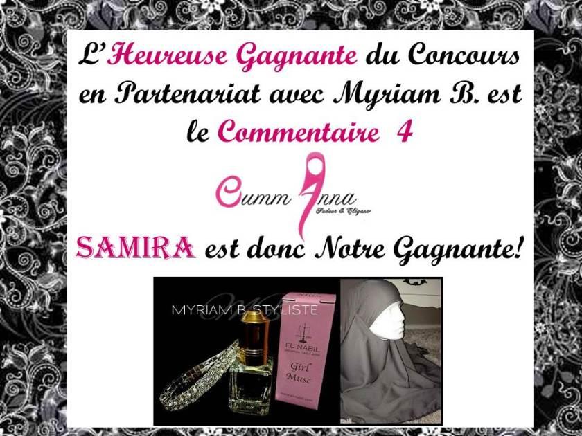 Gagnante du Concours OummAnna/Myriam B.