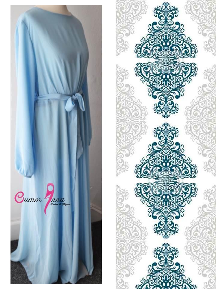 Vintage Blue Amal Abaya by OummAnna