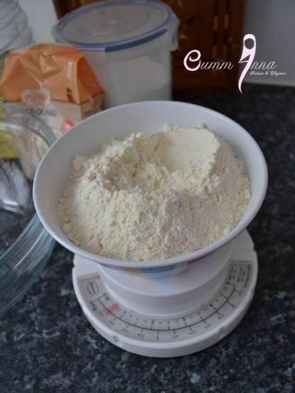 Peser la farine