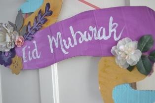 Mon Panneau Eid Mubarak , tuto SweetFajr