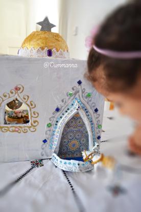 Une mosquée en papier mâché