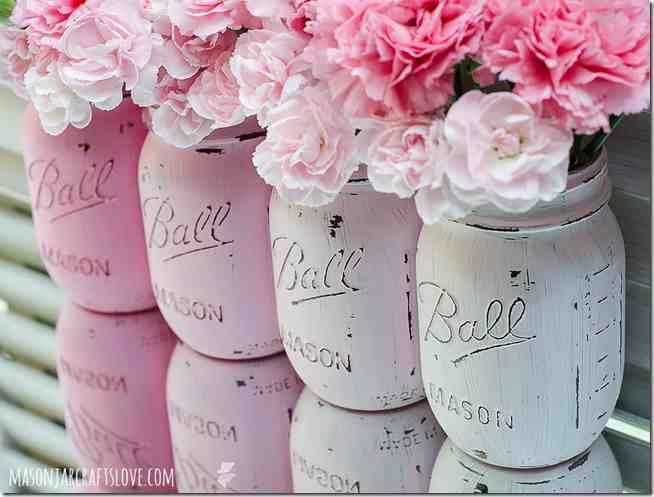 Mason Jars joliement peintes