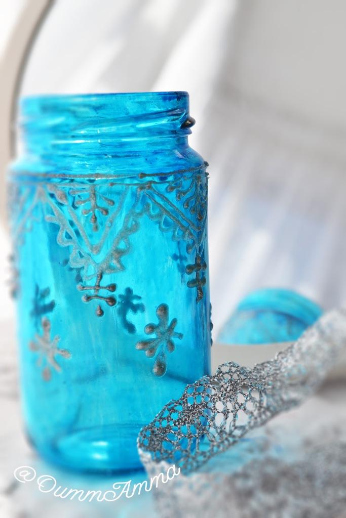 Peinture sur verre, j'ai recyclé un bocal