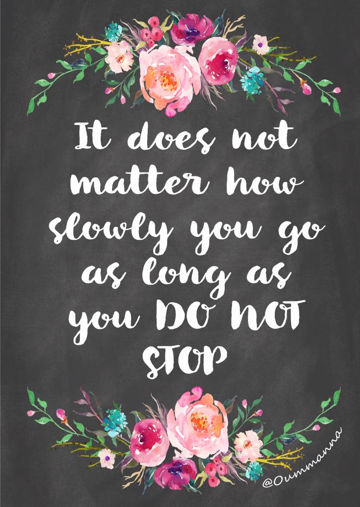 DO NOT STOP OUMMANNA