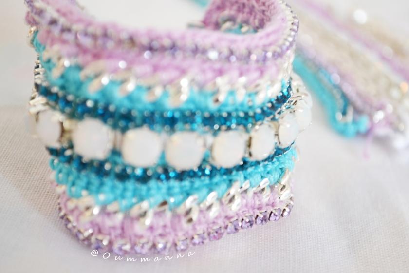 DIY Bracelet et collier crochet Cleopatre