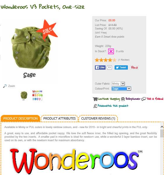 wonderoos Taster Set by Clean Green Nappy Machine