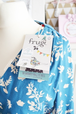 Frugi Cornish Butterflies Long sleeve tie Dress
