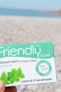 Peppermint and poppy seed Friendly soap bar