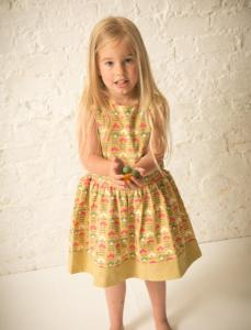 S16034-Lifestyle-Golden-Green-Flowers-Diamond-Dress-4-457x600