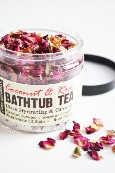 living naturally bath tub tea